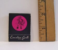 VINTAGE GEORGIA HOTEL VANCOUVER CANADA CAVALIER GRILL ADVERTISING MATCHBOOK
