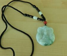Certified Grade A Icy RARE Unique Kwan Yin Jadeite Jade Pendant Necklace 28""