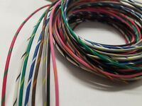 16 AWG GXL HIGH TEMP 40 FEET AUTOMOTIVE POWER WIRE 8 STRIPED COLORS 5 FT EA