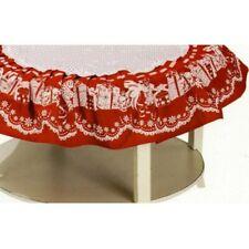 Centrotavola rotondo Sotto Albero di NATALE cin cotone Preziosa rosso pacchi
