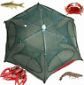 Fishing Bait Trap Crab Net Crawdad Shrimp Cast Dip Cage Fish Minnow Foldable NEW