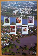 2011 AUSTRALIAN STAMP SHEET SUPPORTING THE PREMIERS FLOOD RELIEF APPEAL