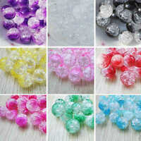 50pcs Acrylic Round Pearl Spacer Loose Beads DIY Jewelry Making 8mm Wholesale