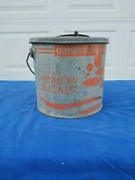 Vintage 24G10 Galvanized Old Pal Minnow bucket, heavy Duty!