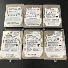 "Lot (6) Toshiba MK1656GSY, MK1676GSX | 160GB 2.5"" Hard Drives"