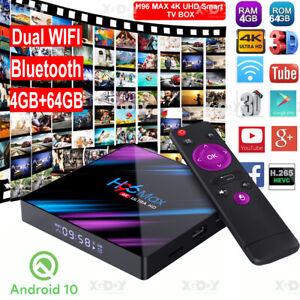 H96 MAX Android 10.0 32G 64G Smart TV BOX 5G WIFI BT Keyboard Media Streamer ES