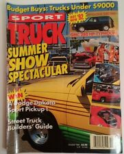 Sport Truck Magazine Vtg Oct 1991 RARE VHTF DuQuoin Boise Raisin Hell Hot Taddi