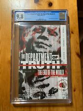 Department of Truth: The End of the World #1 CGC 9.8, TPB issues 1-5, Optioned!
