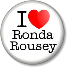 """I Love / Heart RONDA ROUSEY 25mm 1"""" Pin Button Badge MMA UFC Fighter Champion"""