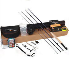 7-8WT Fly Fihsing Combo 8wt Carbon Fiber Fly Rod with Reel and Fishing Tools Kit