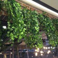 Artificial Ivy Leaf Garland Plant Vine Fake Foliage 2.5/ Home Flowers Decor H4H7