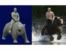 "Miniature ""Vladimir Putin on Bear"" (non painted resin kit) 1/35"