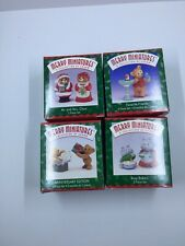 Hallmark Merry Miniatures Lot Of 4 Christmas Sets