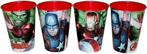 4PC Marvel Avengers Drinking Juice Cup Set Hulk,Iron Man,Captain America-260ML