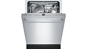 Bosch 100 Series SHXM4AY55N 24 Inch Fully Integrated Dishwasher