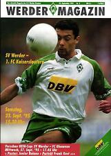 UEFA - EC III 95/96 SV Werder Bremen - 1. FC Kaiserslautern (BL) / FC Glenavon