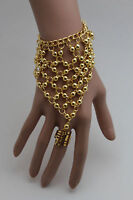 New Women Gold Bracelet Hand Chain Fashion Slave Ring Belly Dancing Ethnic India