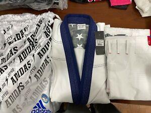 adidas Stars & Stripes A1.5 Jiu Jitsu Gi White w/Gi Bag