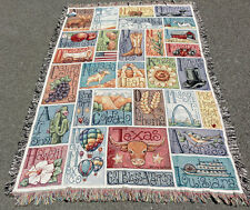 God Bless America West ~ State Collage Tapestry Afghan Throw ~ Krista Hamrick