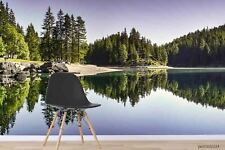 New Listing3D Forest Lake Landscape Wallpaper Wall Murals Removable Wallpaper