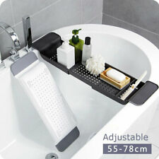 Extendable Over Bath Rack Bathtub Shelf Bathroom Storage Stand Tray Caddy Holder