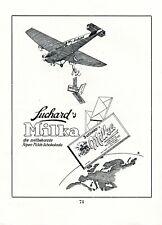 Suchard Milka Schokolade XL Reklame 1931 Vorgänger JU 52 Postflugzeug Junkers 52