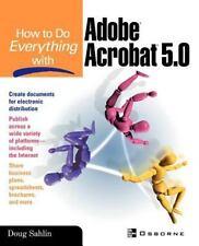 How to do Everything with Adobe(R) Acrobat(R) 5.0 Sahlin, Doug Paperback