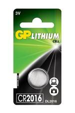 4x GP 2016 3V Lithium Coin Cell Batteries CR2016 DL2016 Battery - Brand New