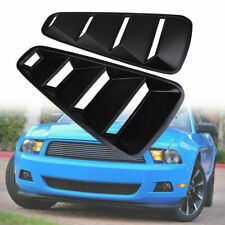 for 2005-2014 Ford Mustang Coupe Black Side Quarter Window Louver ABS Plastic