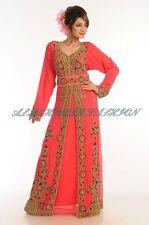 Dubái Farasha Elegante Jilbāb Jalabiya Boda Vestido Takshita para Mujer 658
