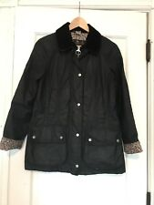 J Crew X Barbour Collab Beadnell Jacket w/ Liberty of London Lining Size 4