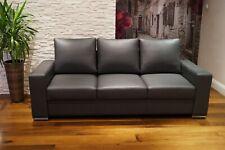 "Echtleder 3 er Sofa ""Mallorca"" 205cm Echt Leder Couch Ledersofa viele Farben !"