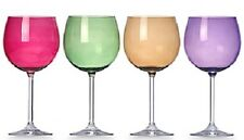 Lenox Crystal Wine Glasses Tuscany Harvest Balloon in Assorted Colors 4 Set New