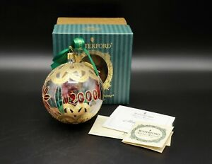 NWT Waterford Holiday Heirlooms Nostalgic Collection Millennium Ball Matt Kehoe