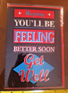 Hoping You'll Be Feeling Better Soon Get Well Soon Card & Envelope New