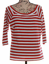 NEW M&S COTTON BOATNECK TOP SIZE 18