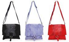 New Women's Soft Italian Leather Snakeskin Crossbody Bag Ladies Girl Shoulder