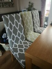 6 Green Fabric Dining Chair Covers