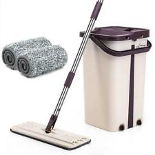 Washing-free Retractable Flat Mop Easy Mop Cloth and Bucket Set Multipurpose