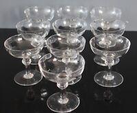 10 coupes champagne en cristal attribuées à Portieux