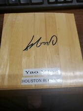 YAO MING AUTOGRAPHED Floorboard Floor Piece WITH COA HOUSTON ROCKETS