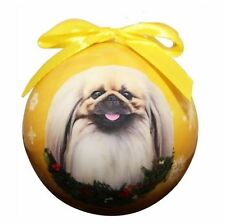 Pekingese Christmas Ball Ornament Dog Holiday Xmas Pet Lovers Gift