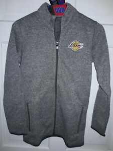 Los Angeles Lakers basketball fleece sweater Full-Zip Jacket NBA shirt - Youth M