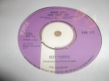 """DEEP PURPLE """" MIGHT JUST TAKE YOUR LIFE """" 7"""" SINGLE PUR 117 (1974) EXCELLENT"""