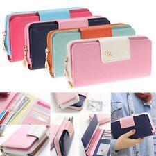 Button Multi-card Clutch Bag Card Holder Women Wallet PU Leather Long Purse