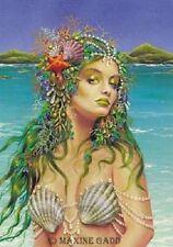 Maxine Gadd Fairy Faery Print Retired DIVA Mermaid Green Hair Pearls Exotic Sea
