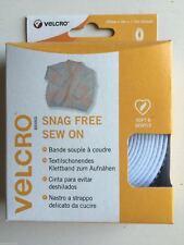 Velcro ® marca Snag GRATIS Sew sul nastro - 20mm x 3m-Bianco