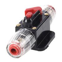 30A Car Audio Inline Circuit Breaker Fuse Holder 12v-24v System Protection C1X8