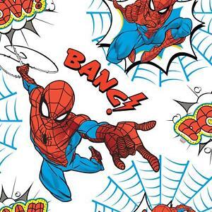 Spiderman Pow G&b Tapete Kinder Marvel Superheld Spidey Webs Weiß/Multi 108553