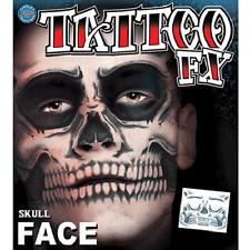 Christien Tinsley Transfers Skull Face Halloween Tattoo Costume Makeup TT-CT411